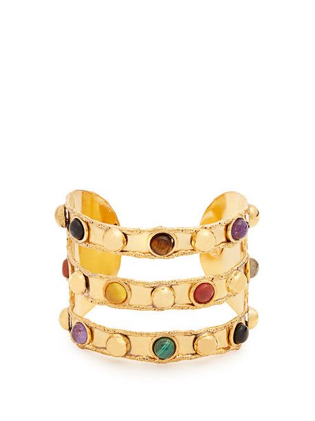 cuff triple gold jewels