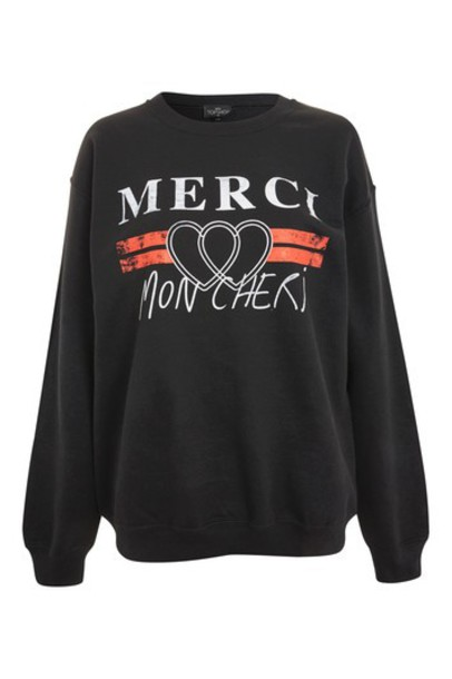 Topshop sweatshirt black sweater