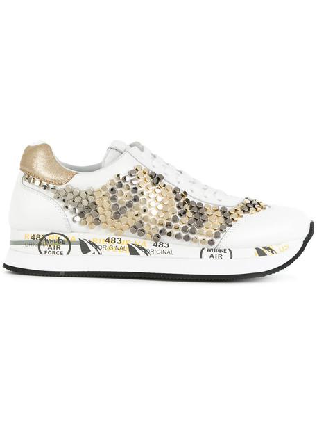 Premiata women sneakers leather white shoes