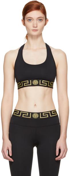 VERSACE UNDERWEAR bra sports bra black underwear