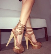 shoes,high heels,heels,snake print,snake skin,brown heels,strappy,strappy heels,peep toe,strap stilettos,stilettos,snake skin print