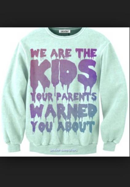 grunge rebel attitude sweater
