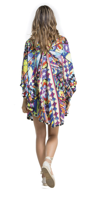 top cover up geometric multicolor bikiniluxe