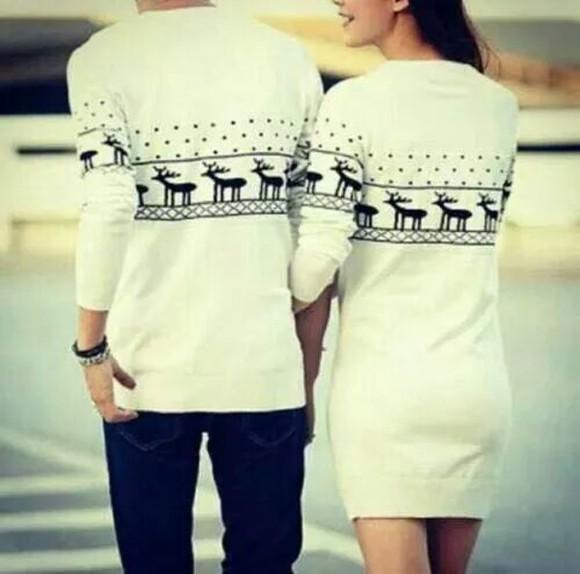 lovely christmas sweater holiday season matching couples couples clothing couple sweaters sweater dress mens sweater