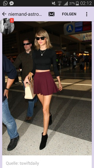 skirt red skater skirt taylor swift