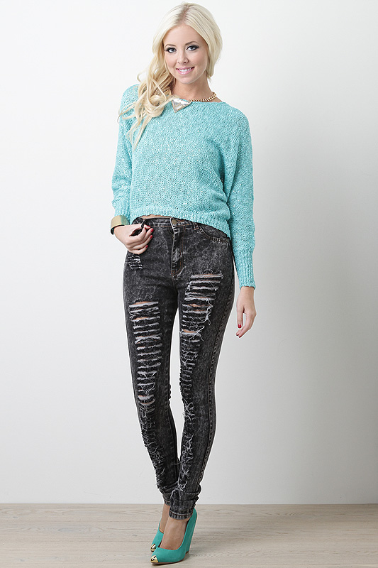Shredded Desire High Waist Jeans