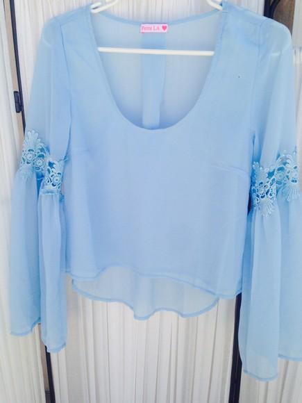 baby blue blouse petite la