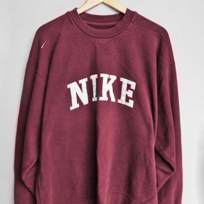 sweater pull nike pullover red red sweater nike sweater. Black Bedroom Furniture Sets. Home Design Ideas