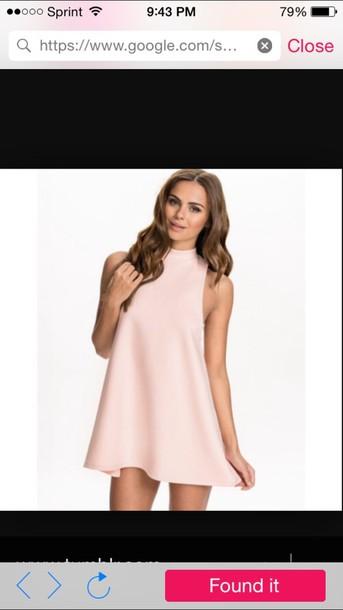 dress pink sleeveless turtleneck dress