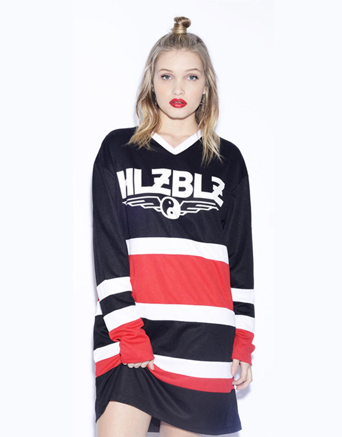 Hellz bellz puck you jersey mesh dress