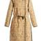 Geist floral-print velvet coat