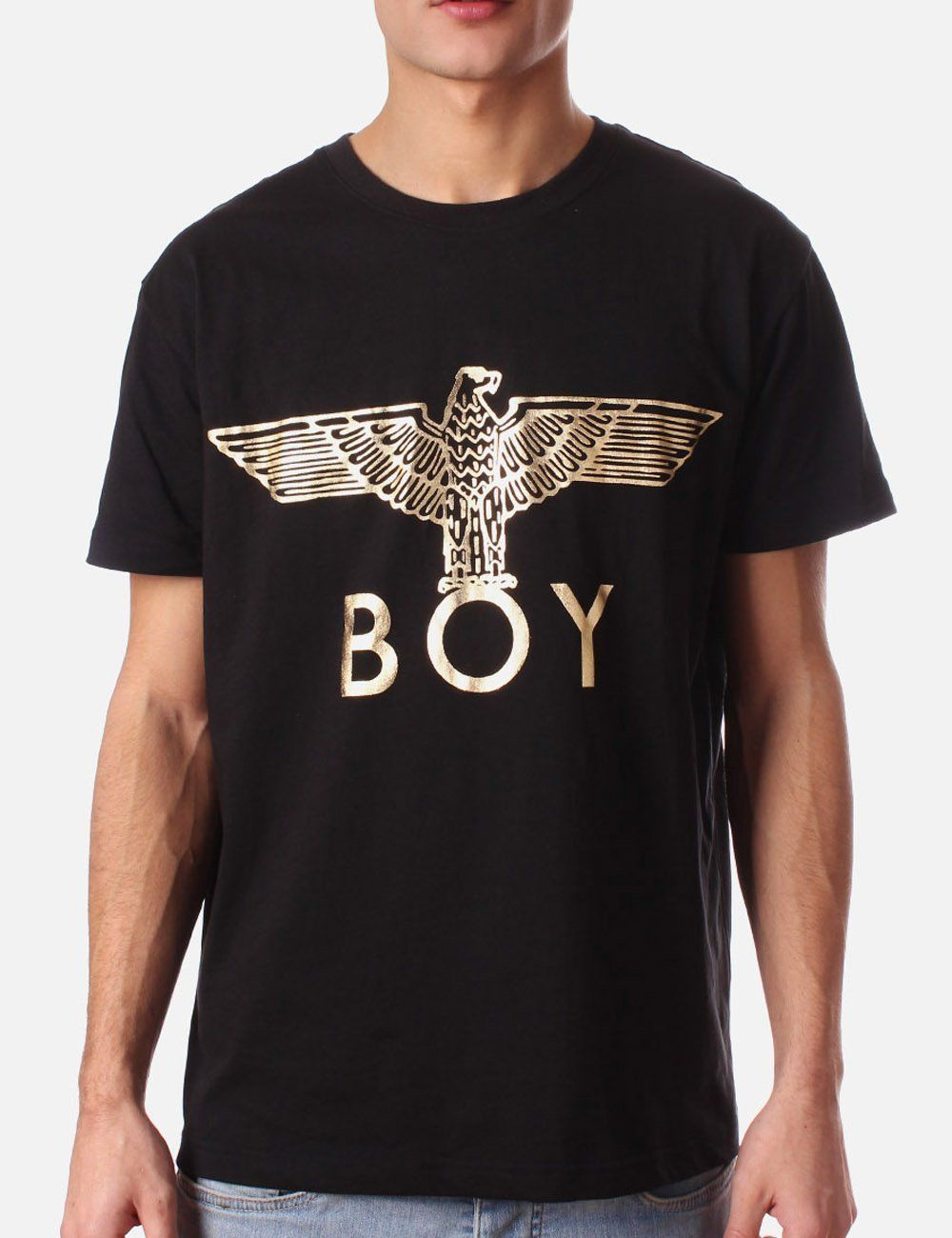 T shirt design hip hop - Aliexpress Com Buy High Quality Hip Hop Shirt Boy London T Shirt Boy S Short Sleeve Tee Eagle Design Men Shirt Gold Printing Tshirt 100 Cotton From