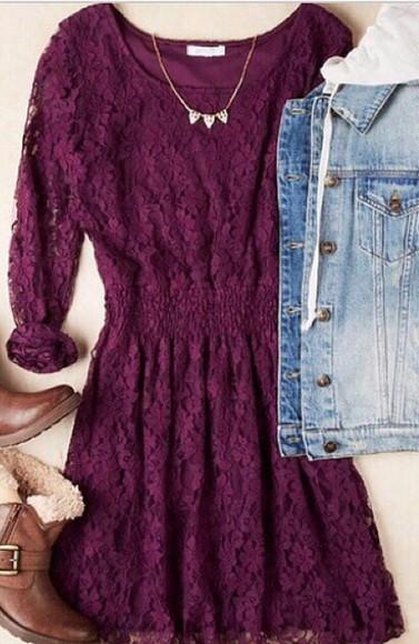 purple dress lace dress lace
