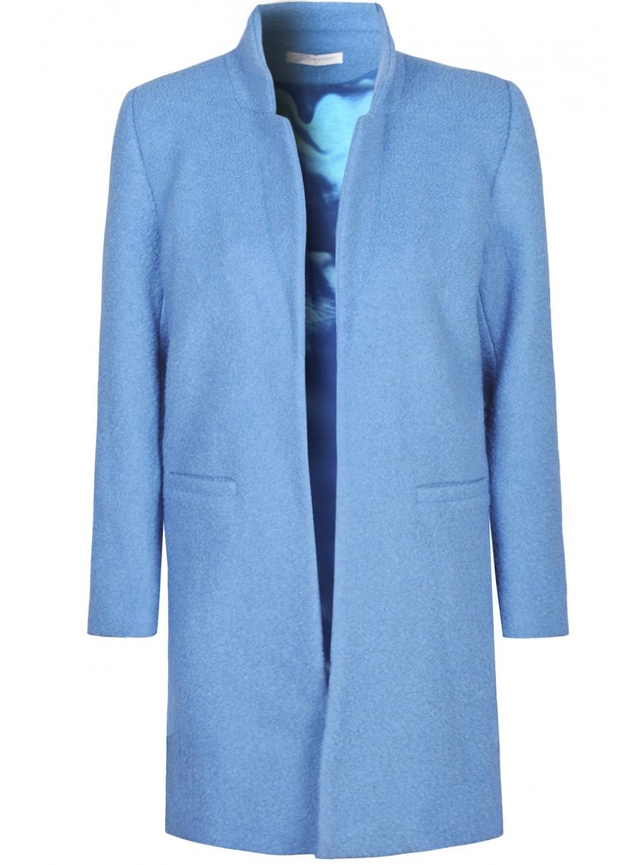Blue Longline Boyfriend Coat