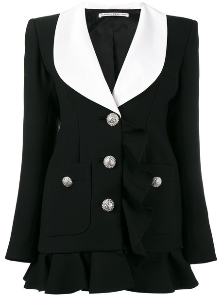 Alessandra Rich dress blazer dress women black wool