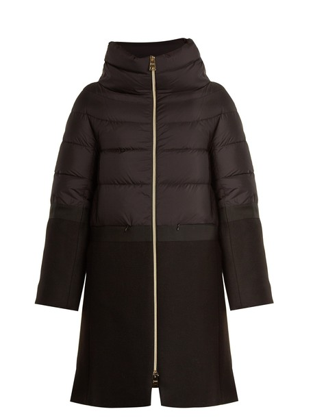Herno coat quilted black