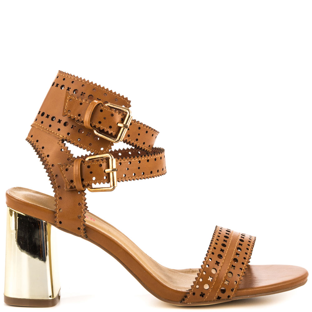 Mayah - Cognac, JustFabulous, 54.99, FREE 2nd Day Shipping!