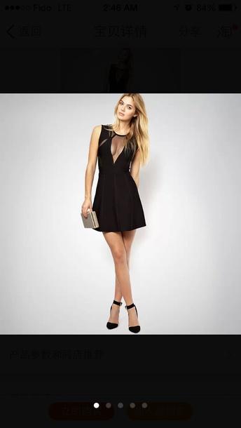 dress see through short party dresses black high heels high heels