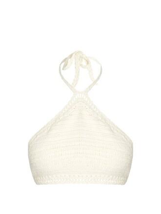 bikini bikini top crochet bikini crochet cream swimwear