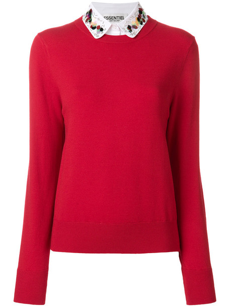 sweater women classic abs red