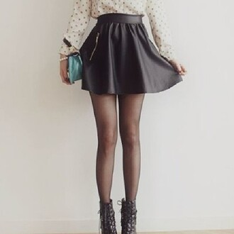 shoes brown heels skirt