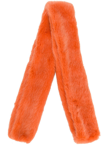 fur women scarf fur scarf cotton yellow orange