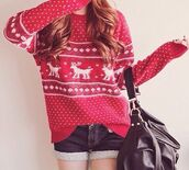 casual,christmas,holiday season,polka dots,stripes,striped sweater,red,white,print,long,long sleeves,cut off shorts,cut offs,denim,denim shorts,short,knitwear,knitted sweater,black,gold,bag,deer,cozy,cozy sweater,winter outfits,winter sweater,warm,vintage,jumper,leather,sexy,classy,fashion,cute,hot,streetwear,streetstyle,outfit,party outfits