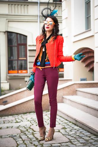 macademian girl jacket pants belt shirt shoes sunglasses bag jewels