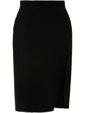 skirt slit black