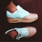 shoes,blue,brown,air max,amazing,nike,nike air,nike free run,nike shoes,nike sneakers,sneakers,white,blue shoes,white shoes,iloveit