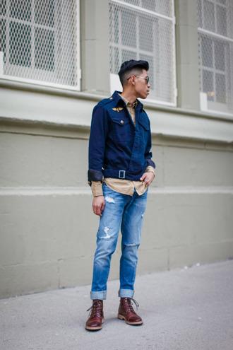 closet freaks blogger mens shoes menswear blue jacket hipster menswear