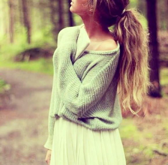 sweater grey t-shirt grey sweatshirt sweater weather brown top, cute, sweet, skirt