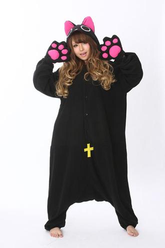jacket kigurumi onesies nyanpire cheap adult onesies