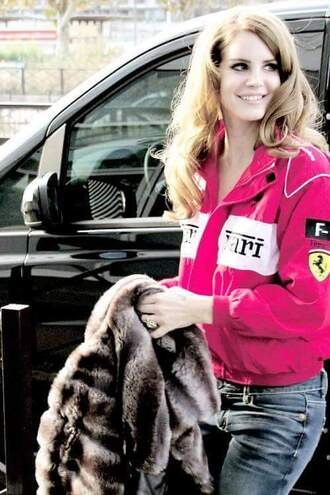 jacket celebrity pink pink jacket lana del rey