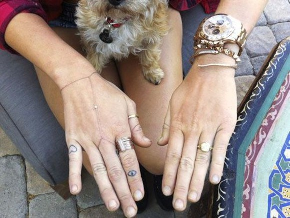 jewels rings outfit evil eye tattoos hipster indie celebrity celebrity style