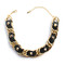 Black studded leather and chain choker necklace – created by fortune