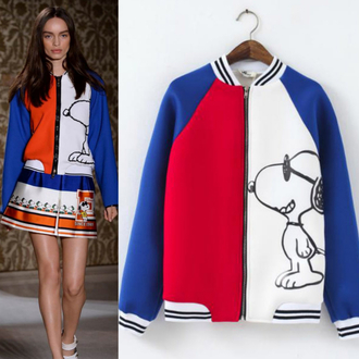 cardigan clothes jacket i4out look lookbook baseball jacket snoopy jacket streetwear streetstyle celibrity