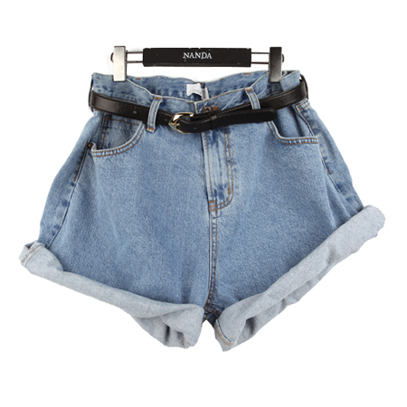 size Denim Shorts (w/Belt) | FashionShop【STYLENANDA】