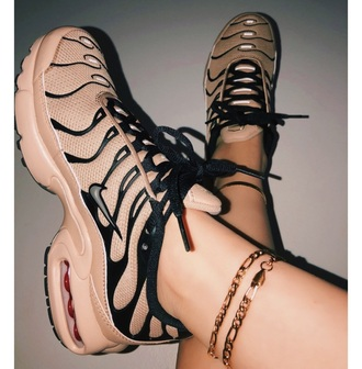 shoes nike nike sneakers nike shoes cute shoes cute peach custom pink black pink and black air max plus air max