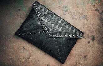 bag skull studs black studded bag