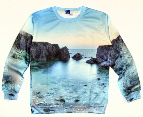 Neue mode 2013 Frauen/Männer Landschaft pullover lustige 3d sweatshirts Landschaft drucken galaxy pullover