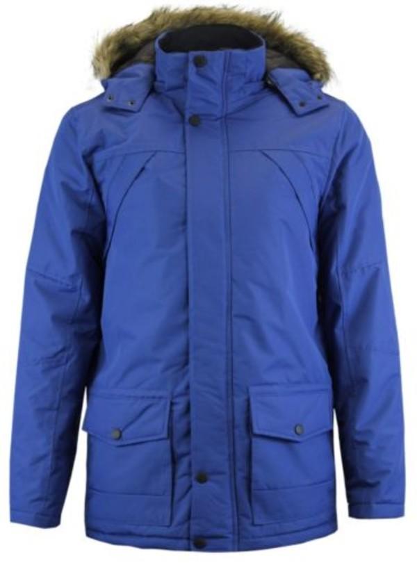 coat menswear heavy ripstop fur hood padded parka jacket blue black panel coat mens parka