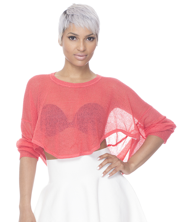 SOFT SWERVE Knit Pullover in Coral – FLYJANE