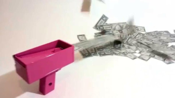 home accessory cash cannon