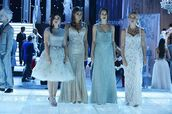 PLL Ice Ball,pretty little liars,long dress,tulle dress,mermaid,aqua,lace dress,aria montgomery,spencer hastings,hanna marin,emily fields,lucy hale,shay mitchell,troian bellisario,ashley benson