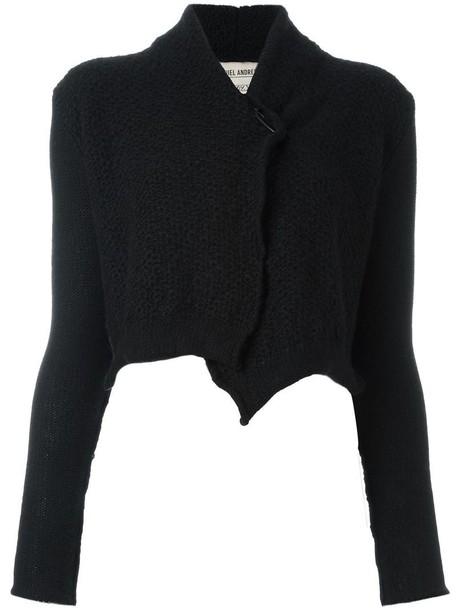Daniel Andresen short cardigan, Women's, Size: Medium, Black, Yak ...