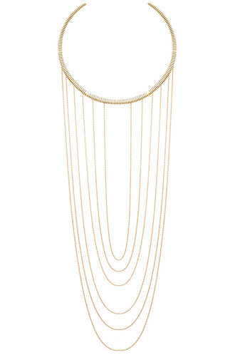 necklace choker necklace metallic gold
