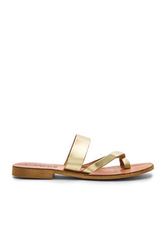 metallic gold shoes