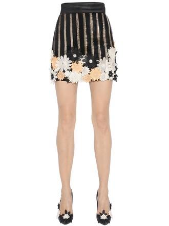 skirt black pink