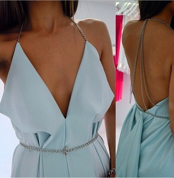 romper romper blue pastel jewels detail silver cute